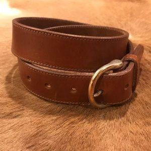 Eddie Bauer Brown Leather belt Large